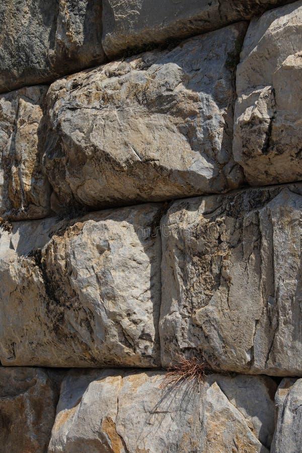 Masywna ashlar kamieniarstwa ściana zdjęcie stock