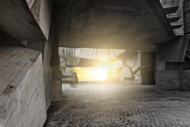 Masywni betonowi kawały zdjęcie stock