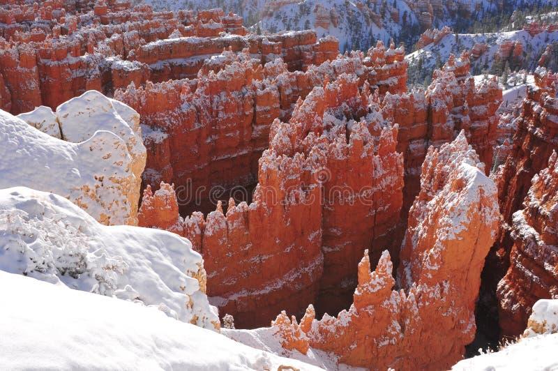 Masywni hoodoos w Utah górach zdjęcia royalty free
