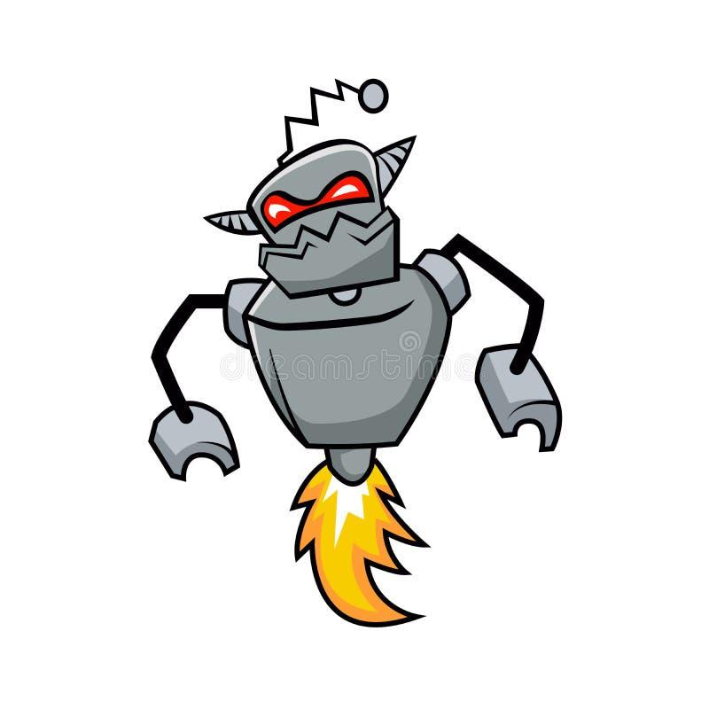 Masywny robota cyborg Zły robot royalty ilustracja