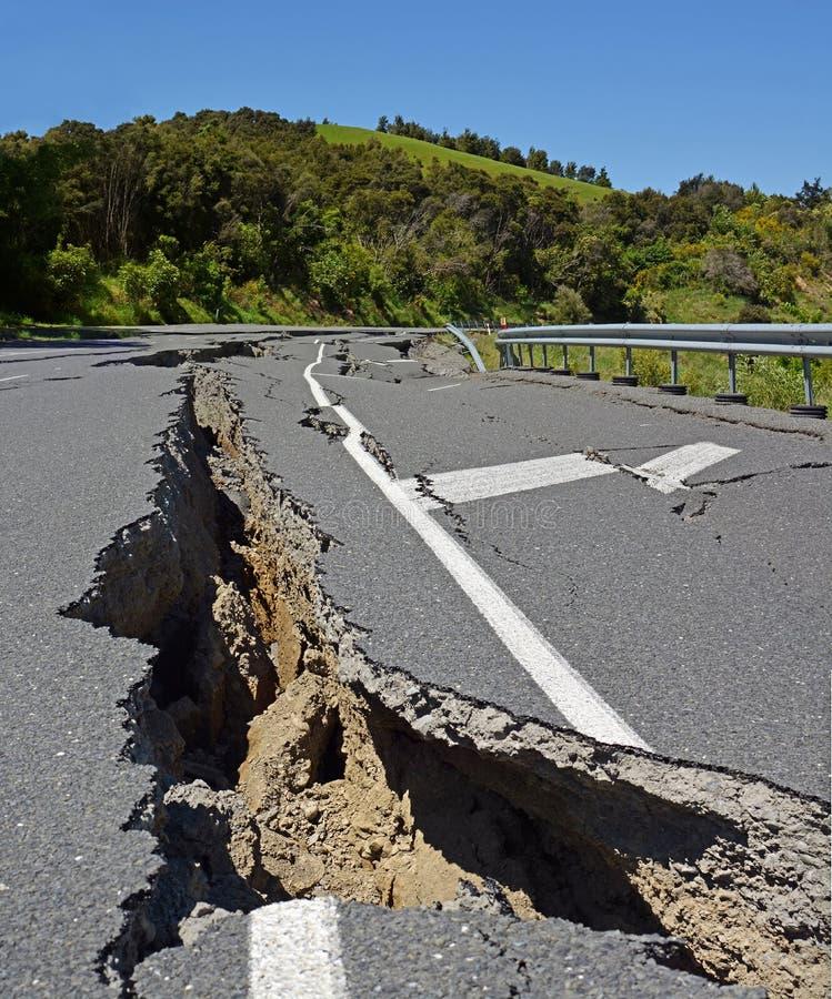 Masywny trzęsienie ziemi rusza się przyrodnią Nowa Zelandia północ Kilka Metre obrazy royalty free