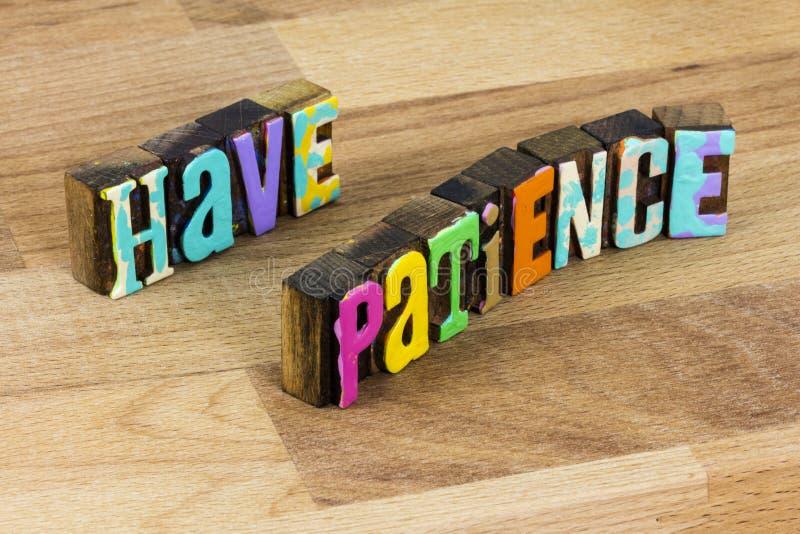 Masz cierpliwość aktywność rekreacyjna miłość cisza czas ciszy bądź cierpliwy razem zdjęcie stock