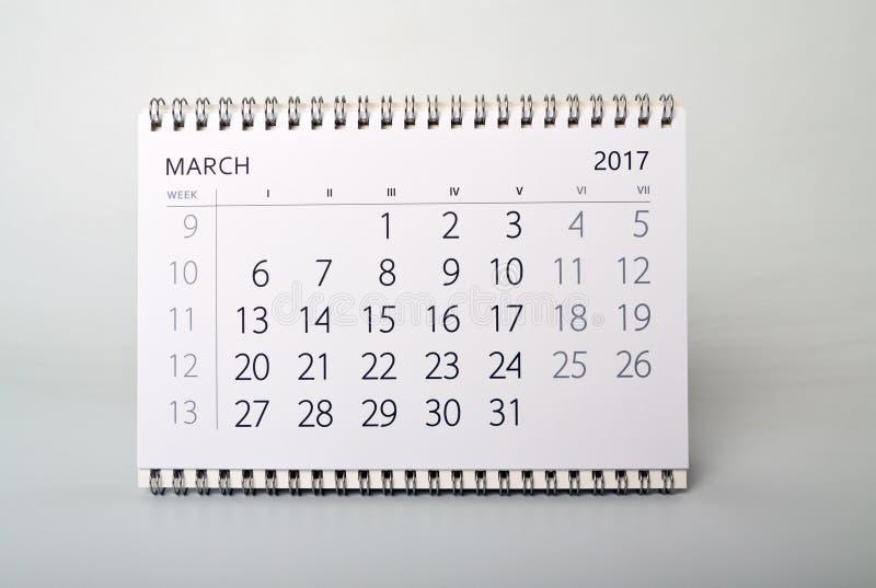 maszerujący Kalendarz rok dwa tysiące siedemnaście obrazy royalty free