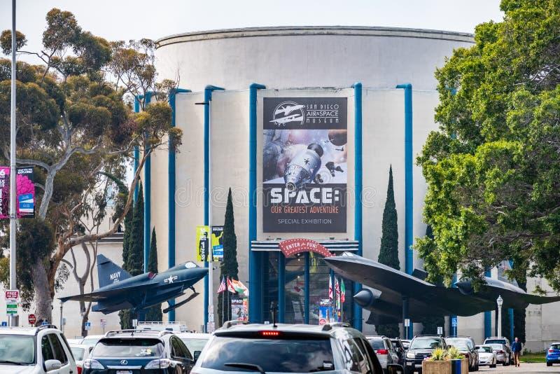 Maszeruje muzeum w balboa parku 19, 2019,/CA, usa/- San Diego Lotniczego i Astronautycznego zdjęcie stock