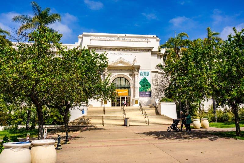 Maszeruje 19 2019 San Diego, CA, usa,/- historii naturalnej muzeum w balboa parku zdjęcie royalty free