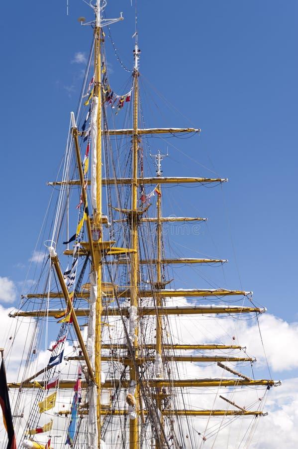 Maszty Wysoki statek zdjęcia royalty free