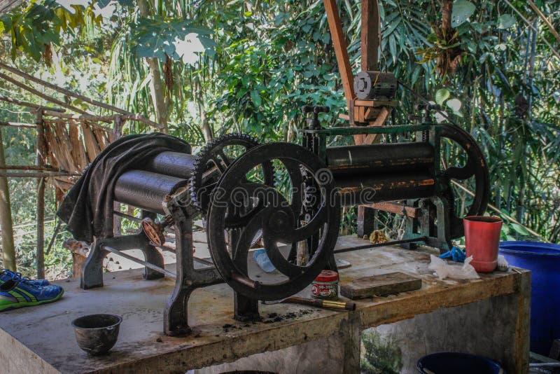 Maszyna dla odciskania prześcieradła naturalna guma od Hevea i manufaktury zdjęcie stock