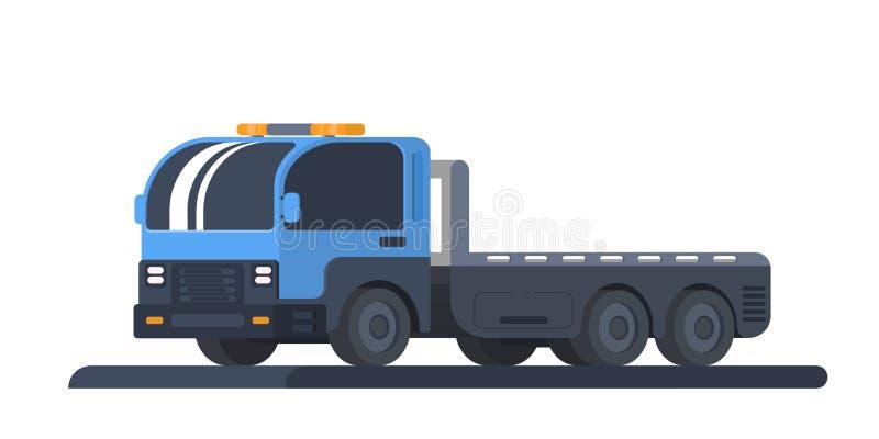 Maszyna dla transportu wadliwi pojazdy Wrecker samochód Ciężarówka z platformą Drogi pomoc i usługa ilustracji