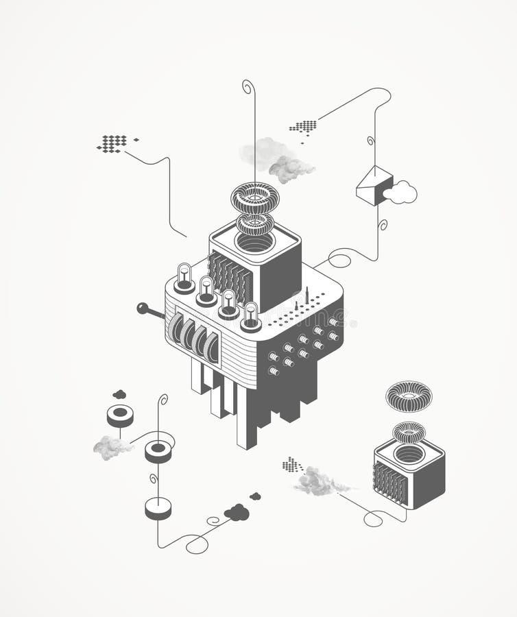 Maszyna dom royalty ilustracja