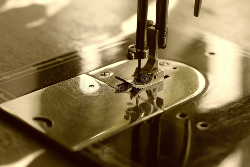 maszyna sepiowy szyć zdjęcie royalty free
