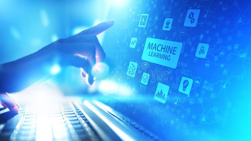 Maszyna uczenie Głębocy algorytmy, Sztuczna inteligencja AI, automatyzacja i nowożytna technologia w biznesie jako pojęcie, zdjęcia royalty free