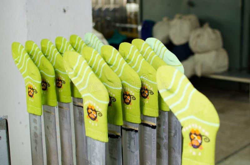 Maszyneria i wyposażenie w przędzalnianej produkci firmy wewnętrznym projekcie Tekstylna tkanina fotografia royalty free