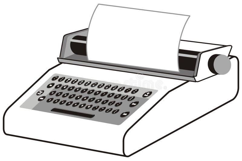 maszyny do pisania ilustracji