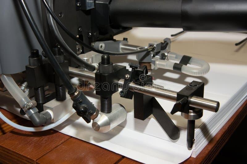 maszyny odsadzki papier drukujący obraz stock