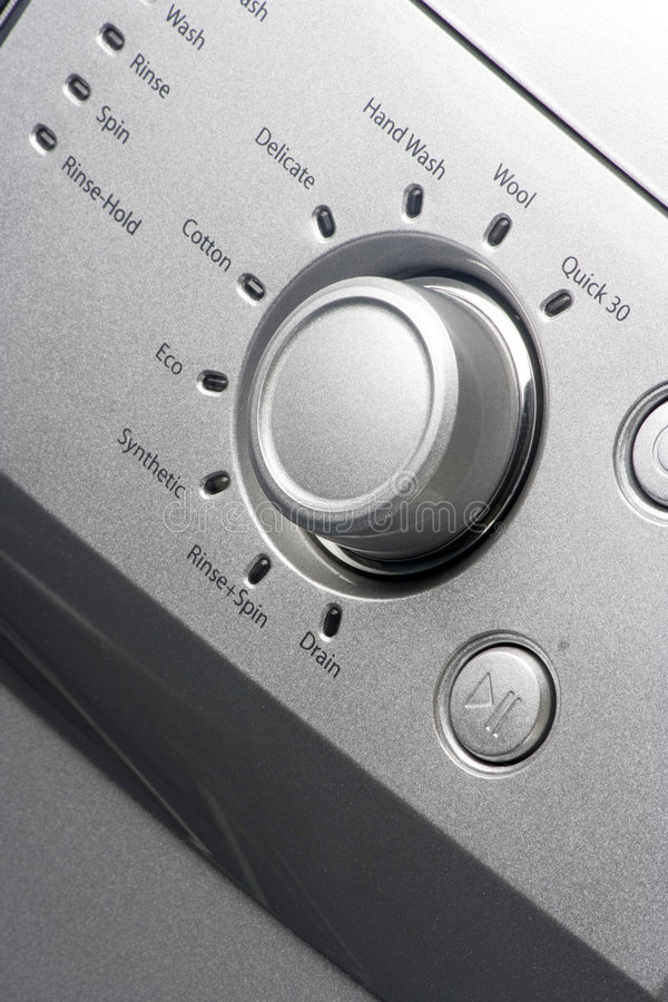 maszyny przycisków wyprać zdjęcie stock