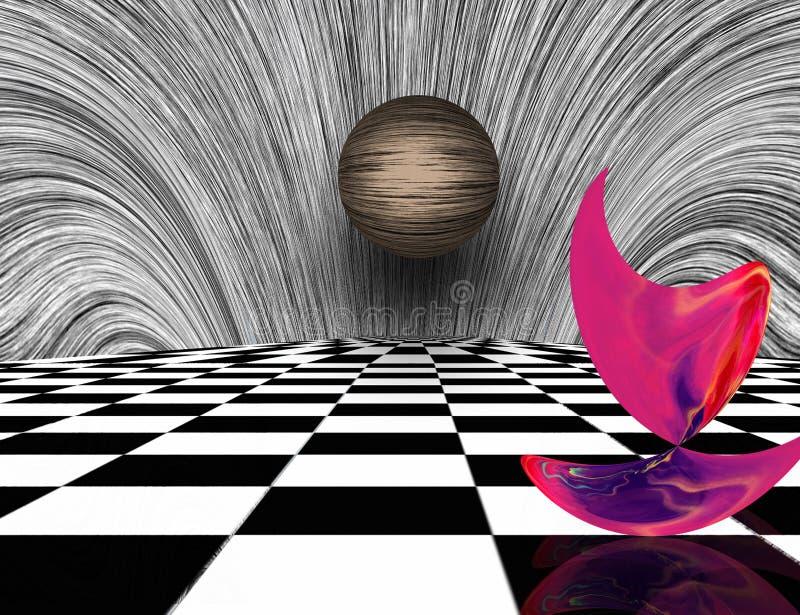 Matéria cor-de-rosa ilustração do vetor