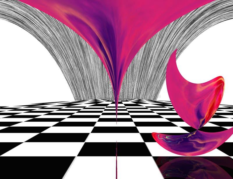 Matéria cor-de-rosa ilustração royalty free
