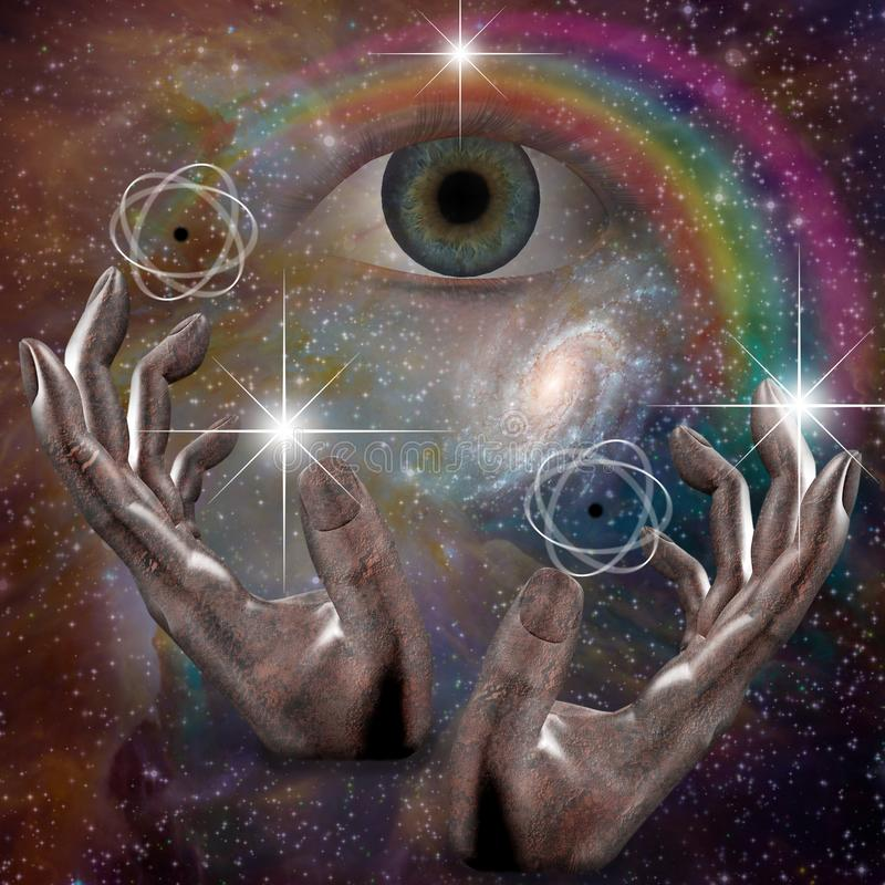 Matéria do universo ilustração do vetor