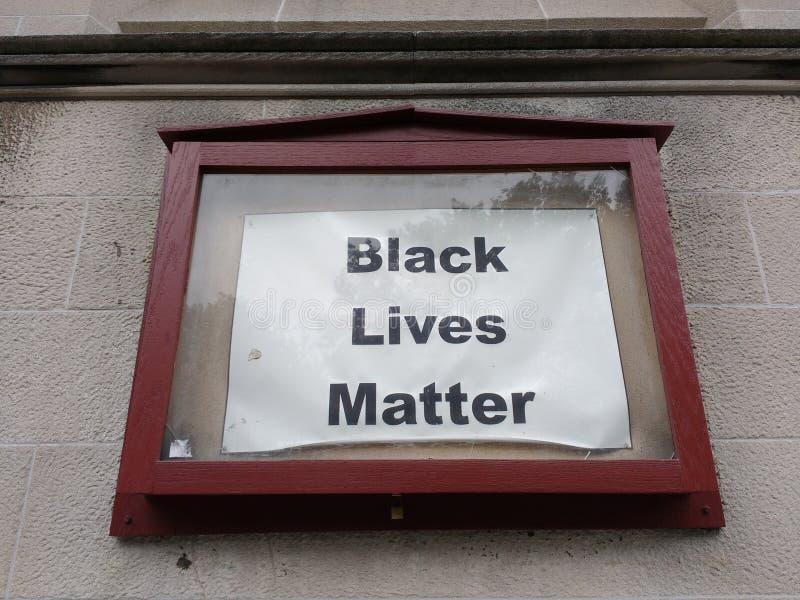 Matéria preta das vidas, NYC, NY, EUA imagens de stock