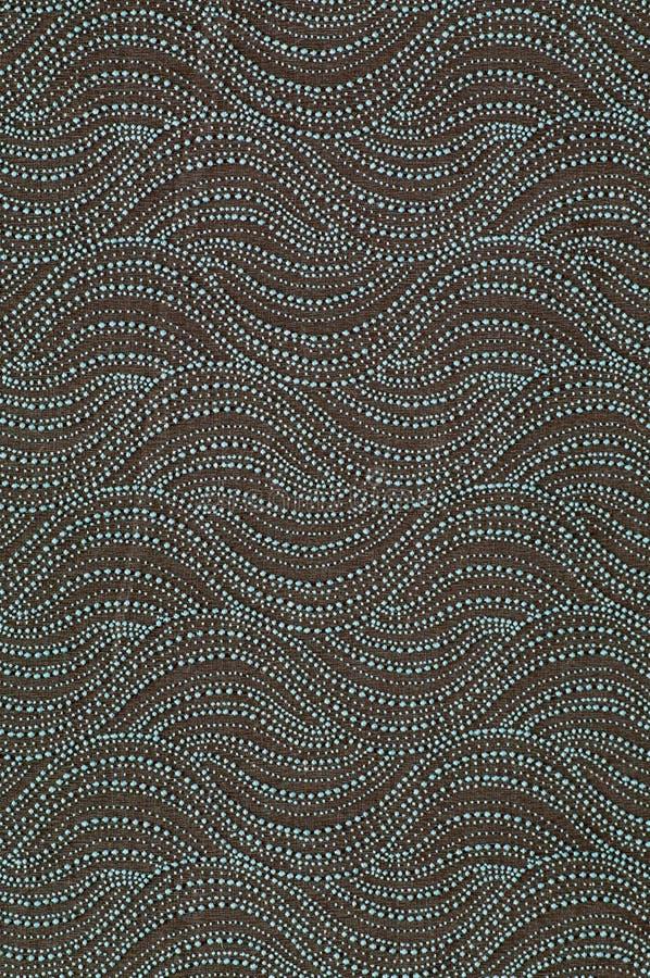 Matéria têxtil com teste padrão no formulário dos montes ou das ondas imagens de stock