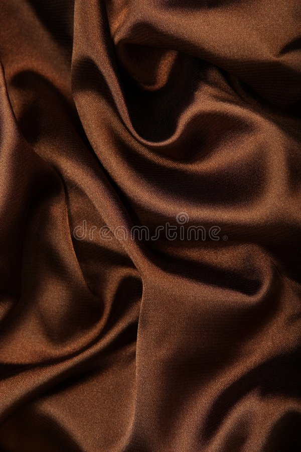 Matéria têxtil da seda de Brown fotografia de stock