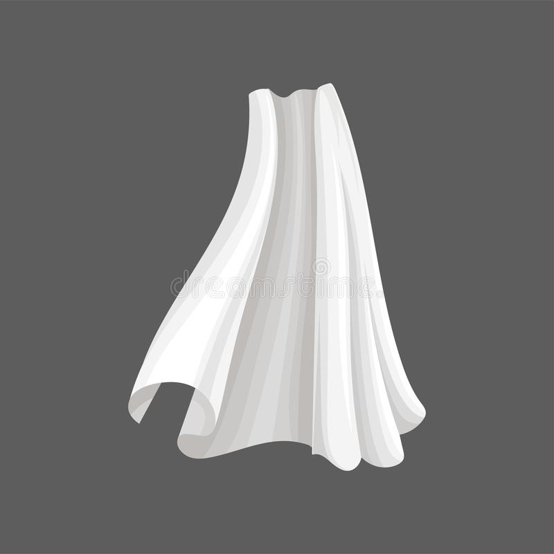 Matéria têxtil da seda do voo Pano macio branco que funde no vento Vetor liso para anunciar o cartaz da oficina ou da tela ilustração royalty free