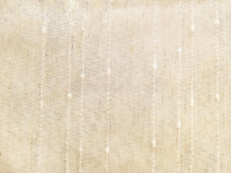 Matéria têxtil de linho colorida creme imagens de stock