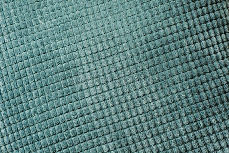 Matéria têxtil diagonal azul, fim acima Vista superior Teste padrão checkered abstrato imagens de stock royalty free