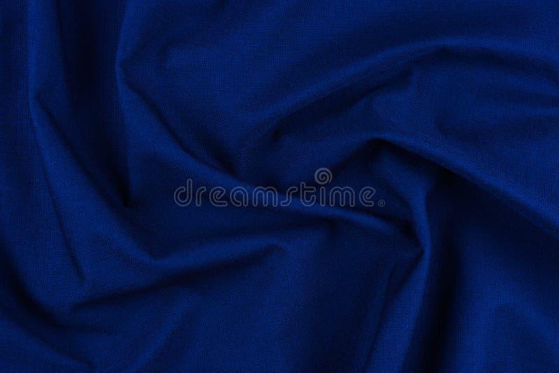 Matéria têxtil e conceito da textura - próximo acima do backgr amarrotado da tela fotografia de stock royalty free