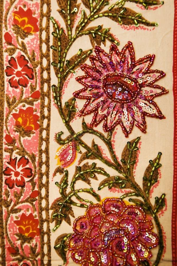 Matéria têxtil floral. imagem de stock