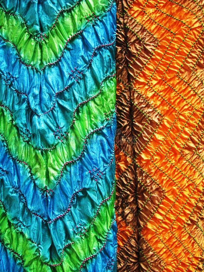 Matéria têxtil indiana, fim-acima fotos de stock