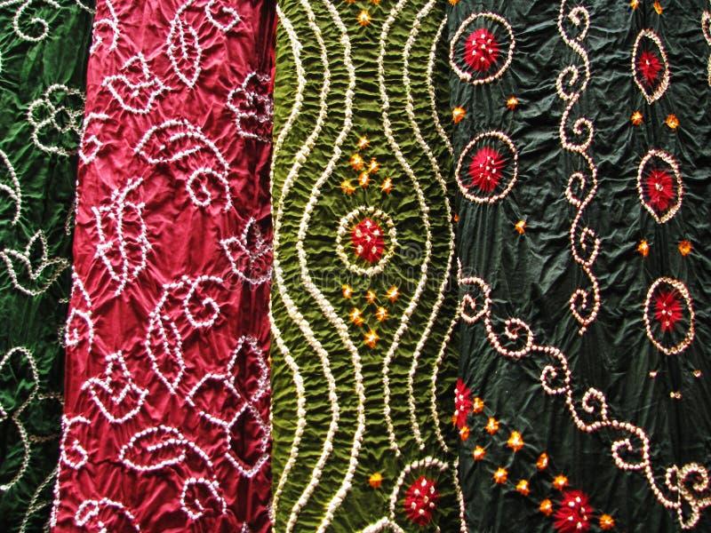 Matéria têxtil indiana, fim-acima fotografia de stock royalty free