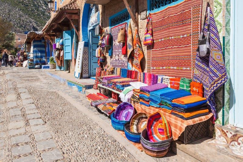 Matéria têxtil marroquina tradicional imagens de stock