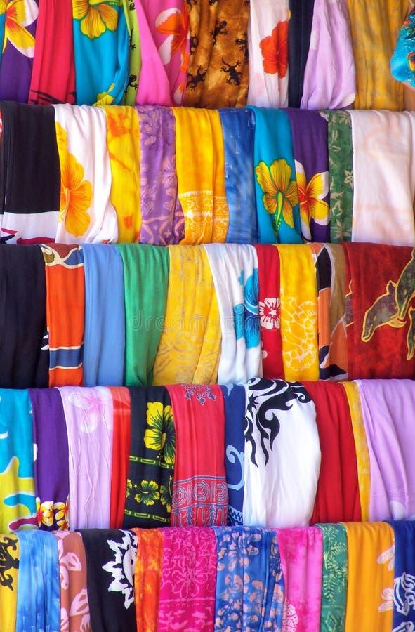 Matéria têxtil mexicana colorida imagens de stock