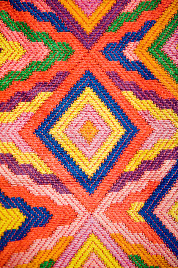 Matéria têxtil modelada colorida fotografia de stock