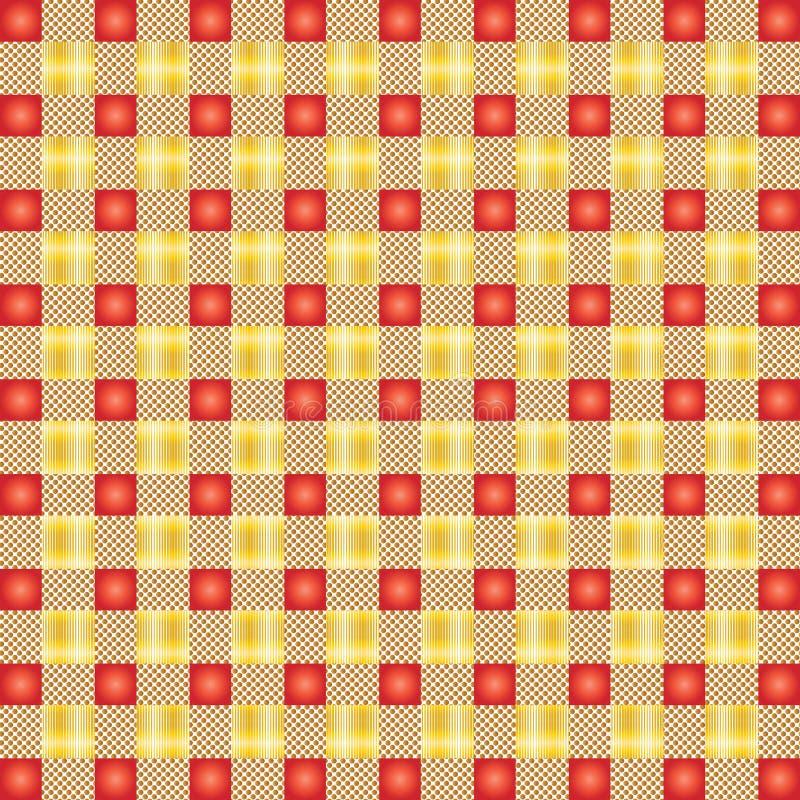 A matéria têxtil que o projeto sem emenda do teste padrão para equipa veste ilustração royalty free