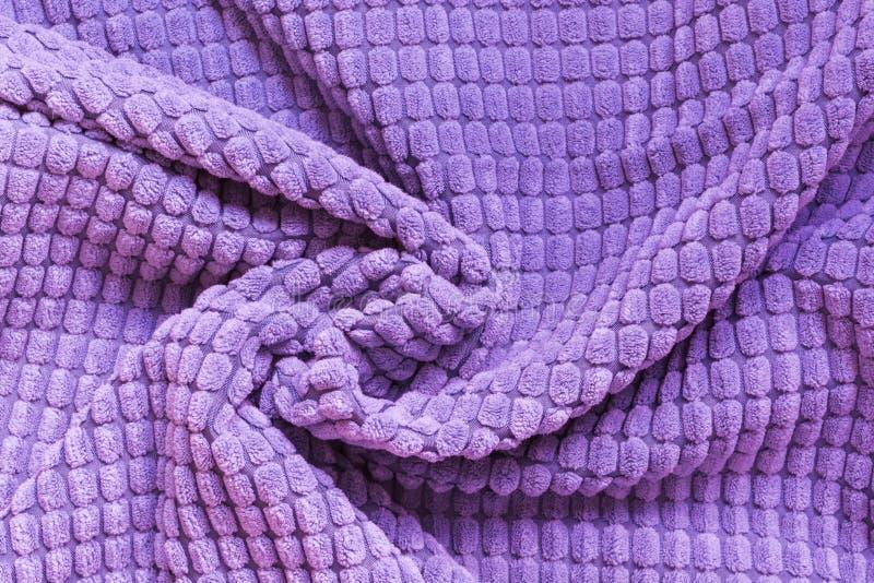 Matéria têxtil ultravioleta, fim acima Vista superior Teste padrão checkered abstrato fotos de stock