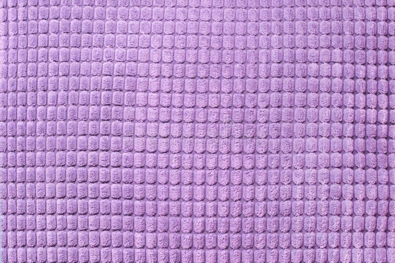 Matéria têxtil ultravioleta, fim acima Vista superior Teste padrão checkered abstrato imagem de stock royalty free