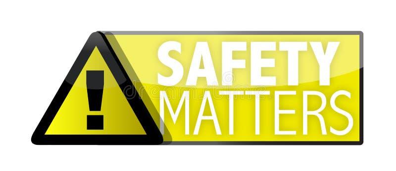 Matérias de segurança ilustração stock