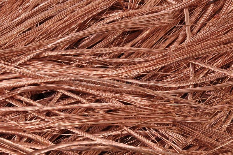 Matérias primas puras dos fios de cobre para a indústria imagens de stock