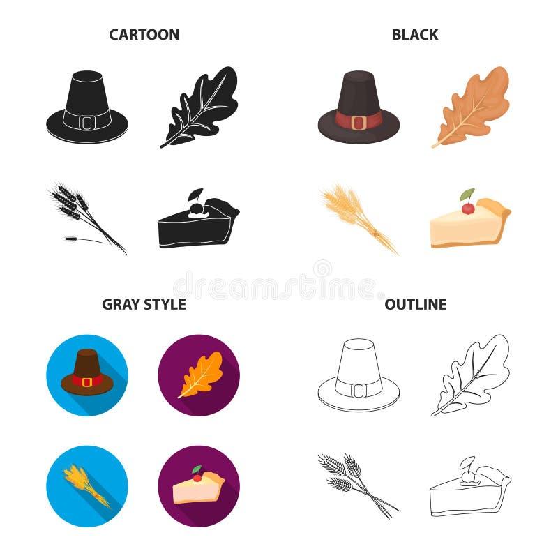 Matérias têxteis, cozimento, economia e o outro ícone da Web no estilo diferente doçura, deleite, natureza, ícones na coleção do  ilustração stock