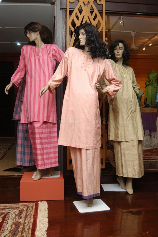 Matérias têxteis de Tenunan Pahang fotos de stock royalty free