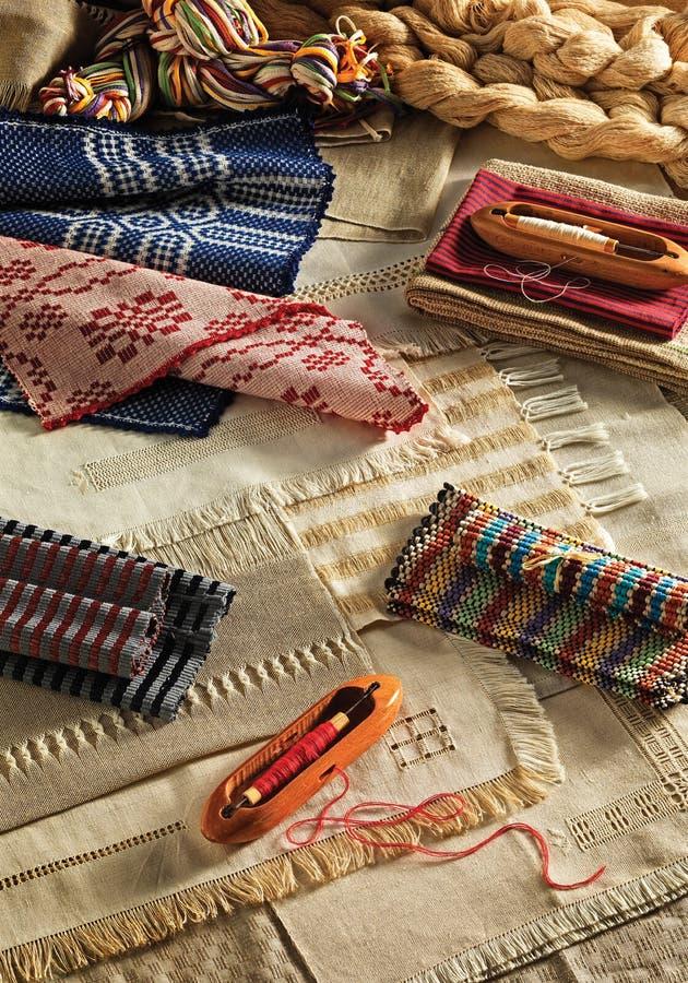 Matérias têxteis feitos a mão fotografia de stock royalty free