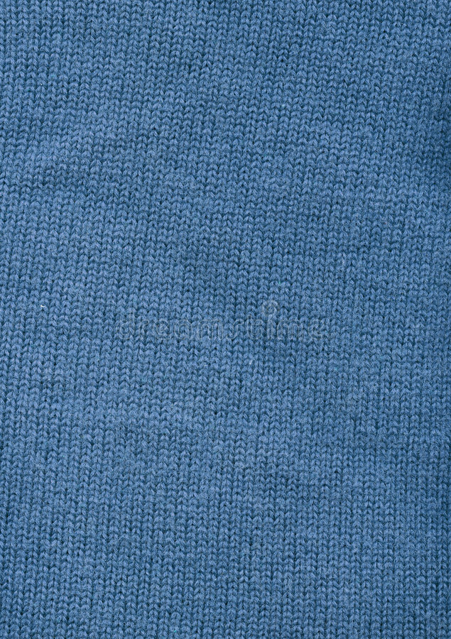 Matériau bleu de laines photo stock
