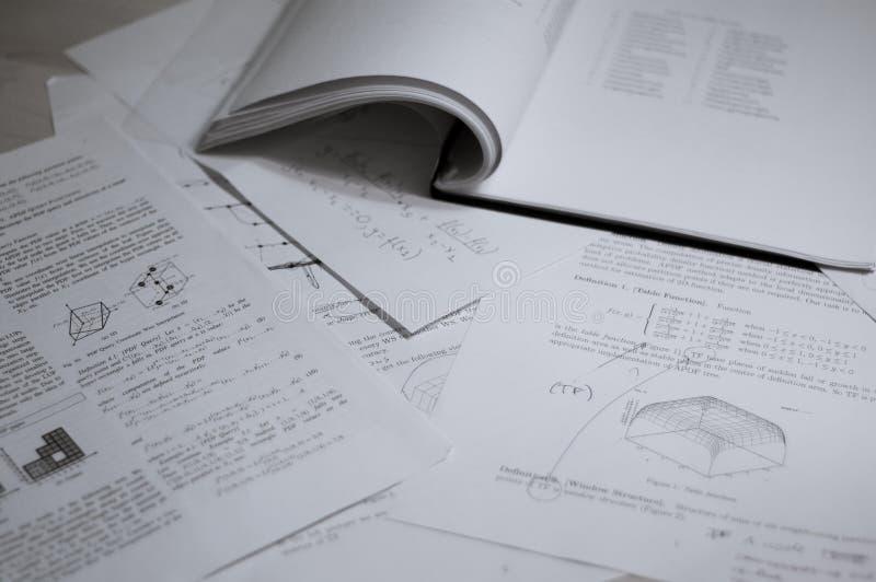 Matériau d'étude image stock
