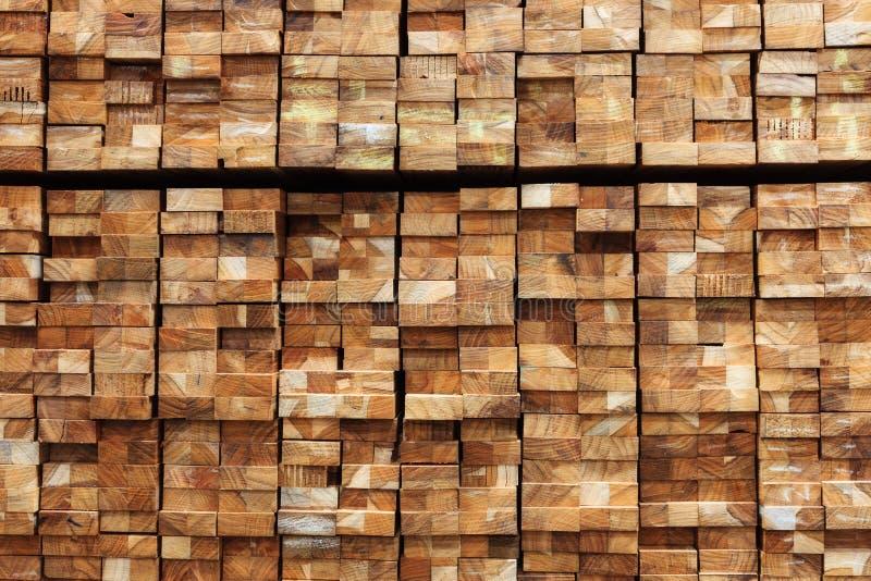 Matériau de construction en bois de bois de construction pour le fond et la texture images stock