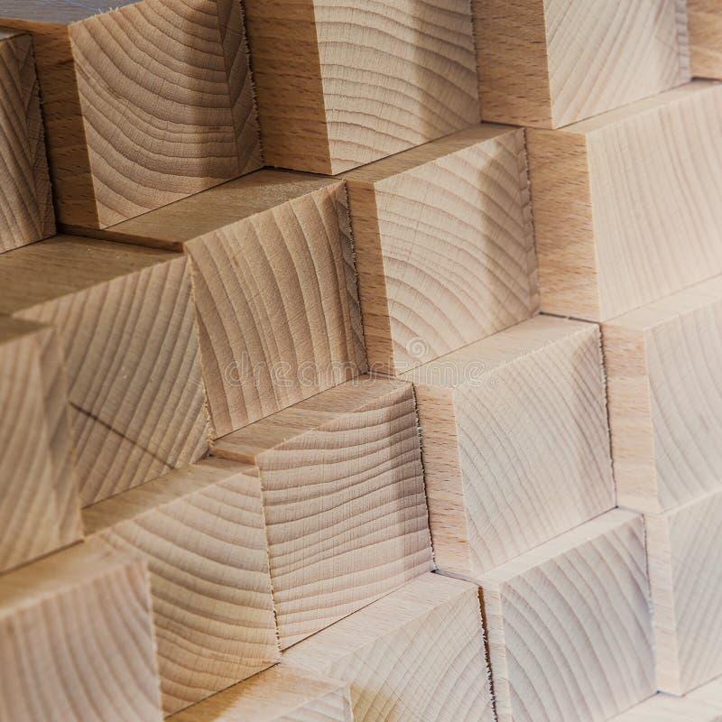 Matériau de construction en bois de bois de construction pour le fond et la texture De photographie stock