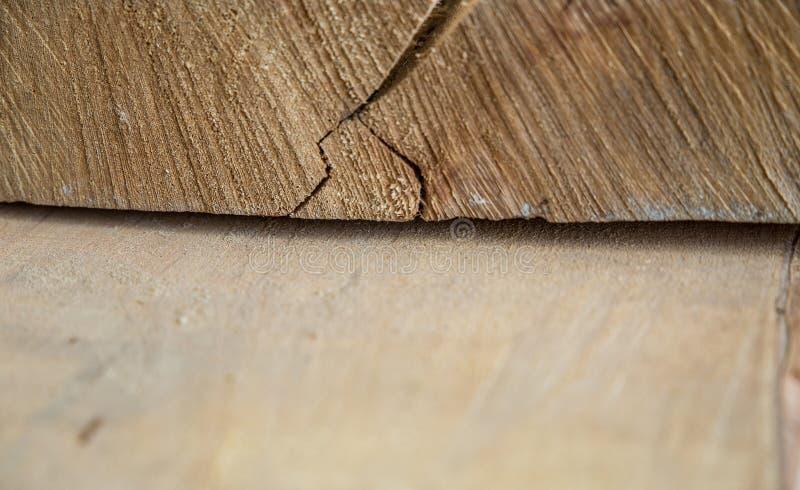 Matériau de construction en bois de bois de construction pour le fond et la texture Fin vers le haut abrégez le fond Petite profo photo stock