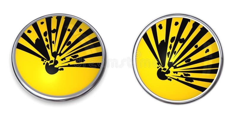 matériau explosif de bouton illustration de vecteur