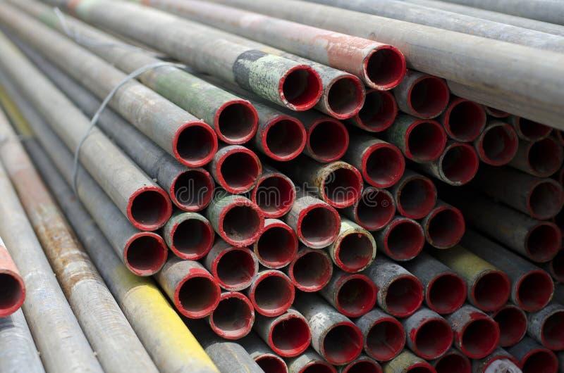 Matériaux d'échafaudage. photographie stock